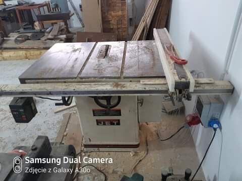 Maszyny stolarskie do obrobki drewna piła stołowa Jet