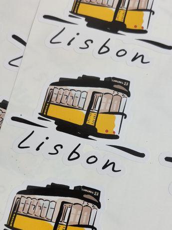 Autocolante Lisboa Elétrico Vinil