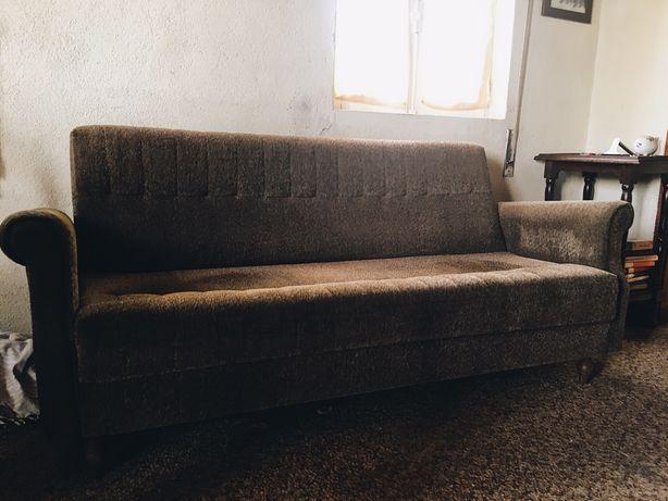 Sofá de 3 lugares + 2 Poltronas Vintage