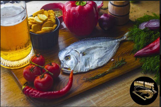 Риба в,ялена: лящ, вомер, тарань, бички, ..