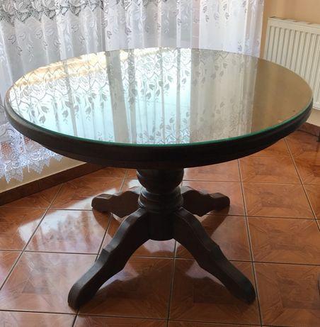Okrągły stół drewniany