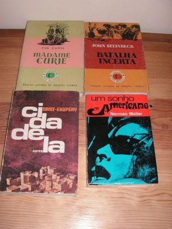 Eva Curie, John Steinbeck, Saint-Exupéry e Norman Mailer
