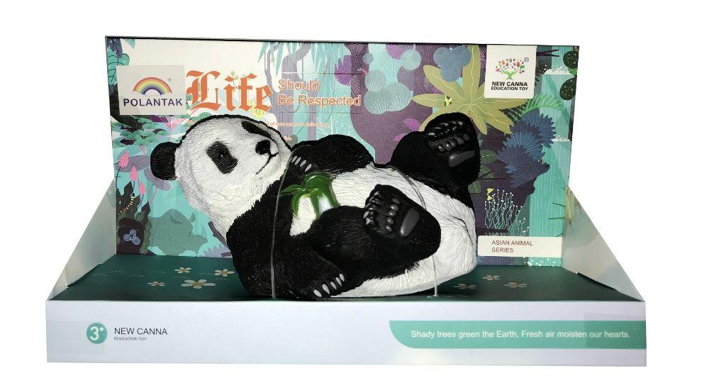 Gumowa Panda Leżąca Miękka w dotyku jak żywa !