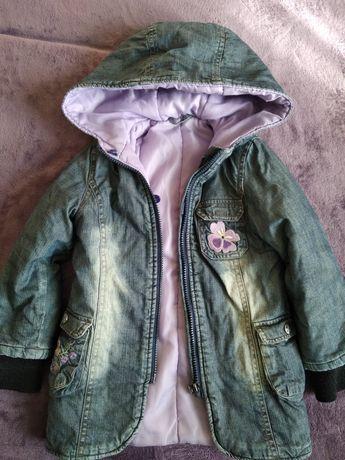 Джинсовая куртка курточка парка 98 - 104 рр.