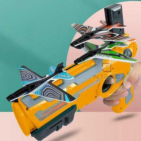 Детский игрушечный пистолет с самолетиками 4 шт  Air Battle