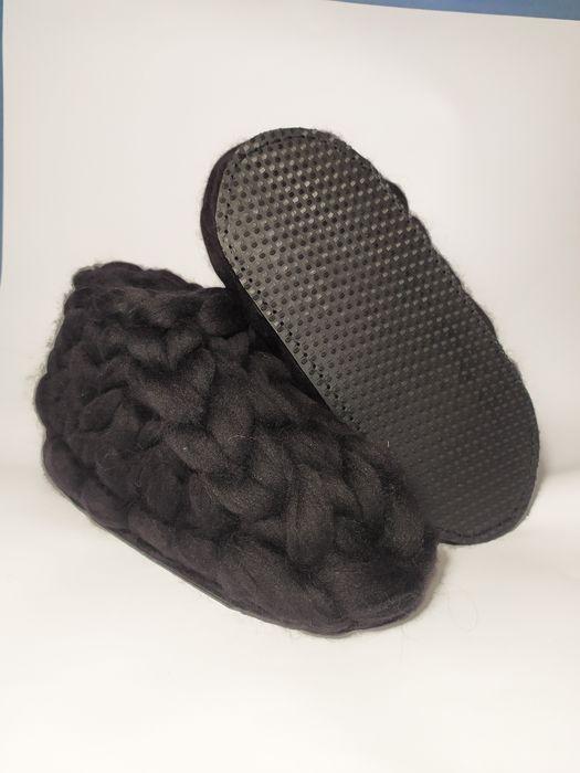 Тапочки из шерсти мериноса ручная работа очень теплые Щорс - изображение 1