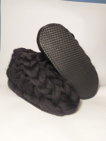 Тапочки из шерсти мериноса ручная работа очень теплые