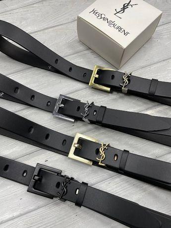 Стильные кожаные ремни Yves Saint Laurent