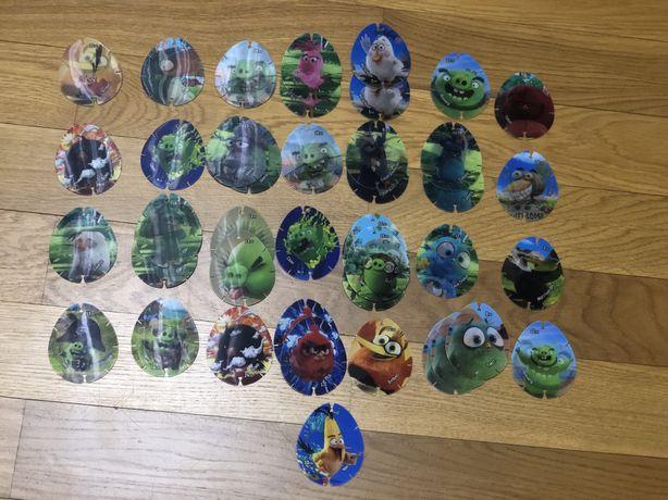 Голографические фишки Angry Birds вся коллекция + дубли