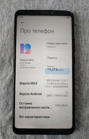 """Смартфон Xiaomi Mi Max 3 [4/64]. Новий акумулятор """"X-Longer BM51"""""""