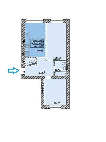Ціна 2 кімнатної квартири ! 800у.е м2 Максимальне наповнення