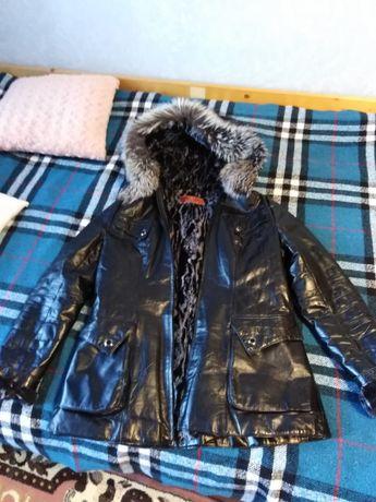 Куртка шкіряна зима