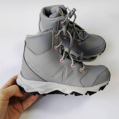 Кожаные лёгкие утепленные ботинки кроссовки new balance 28 29 размер