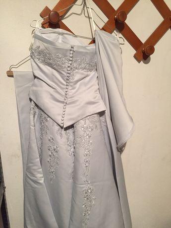 Vestido noiva azul celeste usado