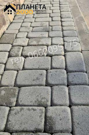 Плитка тротуарная, плитка газонная, плитка садовая, бордюры