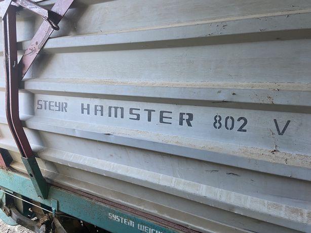 Przyczepa samozbierająca steyr hamster 802 v
