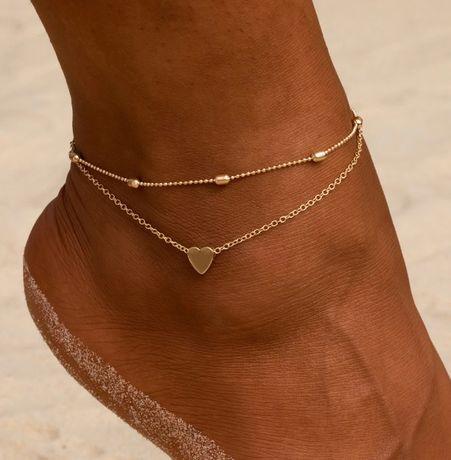 HIT LATA! złota bransoletka łańcuszek na kostkę stopę nogę ZOBACZ