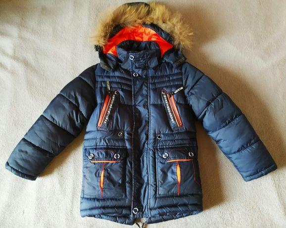 Куртка зимняя пуховик для мальчика на рост 122 см