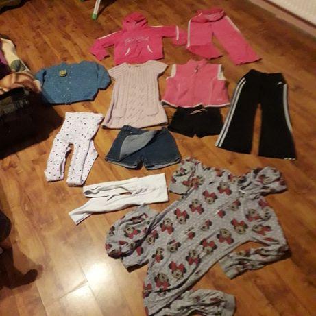Ubranka dla dziewczynki roz. 128 Dużo gratisów!!!