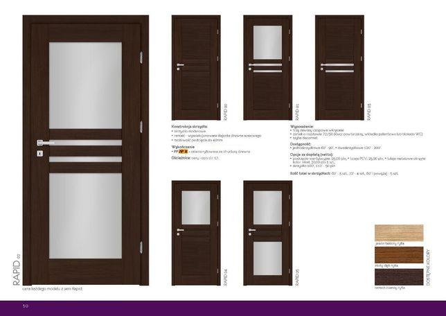 DRZWI WEWNĘTRZNE RAMOWE POKOJOWE łaziekowe nowoczesne drzwi 330zł
