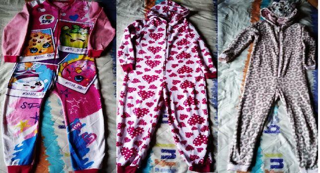 комбинезон слип пижама кигуруми и 2 на лёгком флисе, цена за всё