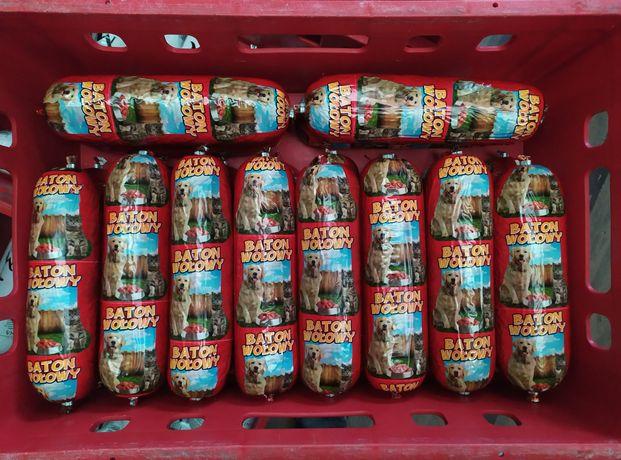 Karma dla psa psów i kotów baton wołowina 900g kiełbasa puszka mięso