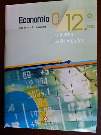 Vende-se caderno de atividades Economia 12º ano - Plátano editora