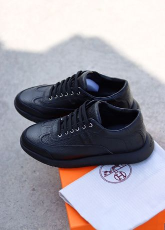 Buty Hermes Black 40-45 meskie trampki top jakosc