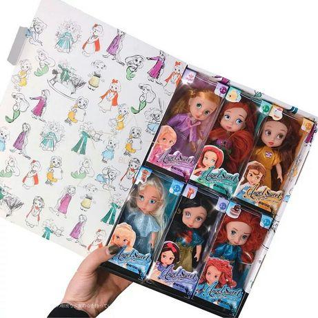 Детская Игрушка. Набор детских кукол 6шт, ярких куколок.