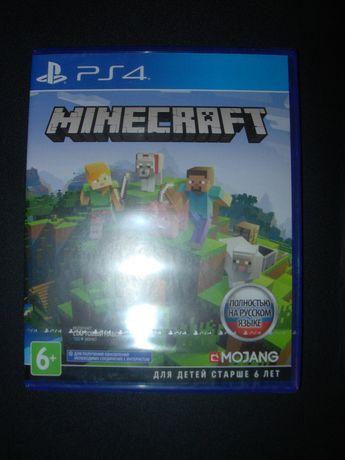 Minecraft. Playstation 4 Bedrock Edition. Новый русский диск для PS4