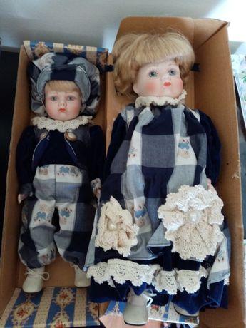 Bonecas porcelana vintage novas em caixa