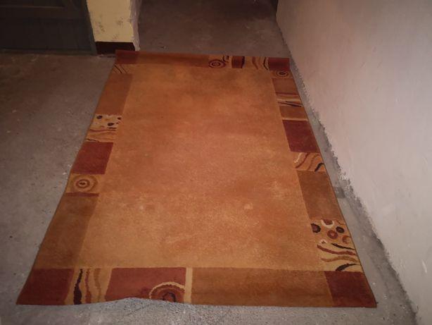 Dywan, chodnik, 230x158 cm, brąz/beż, stan BDB