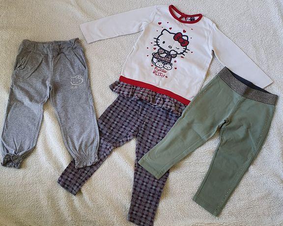 ORIGINAL MARINES 98 na 2 lata HELLO KITTY zestaw Spodnie bluzka