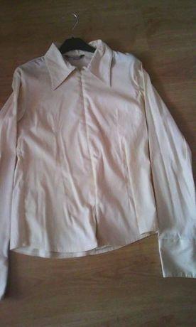 koszula bluzka damska na suwak z kołnierzykiem elegancka