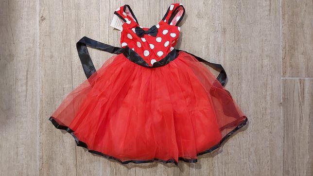 Nowa sukienka Myszka Minnie 110