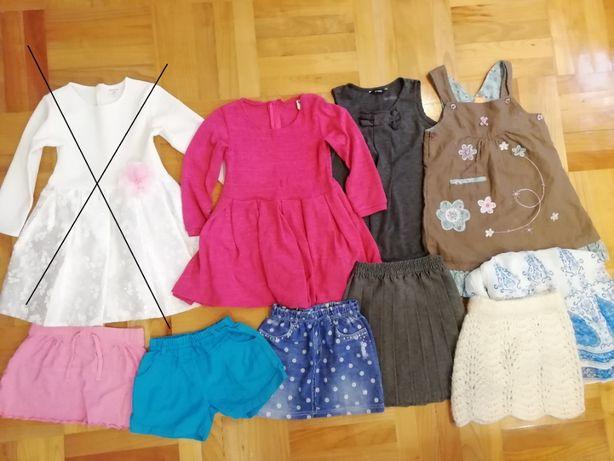 Mega paka dla dziewczynki r. 110/116/122 nr 1 sukienka szlafrok strój