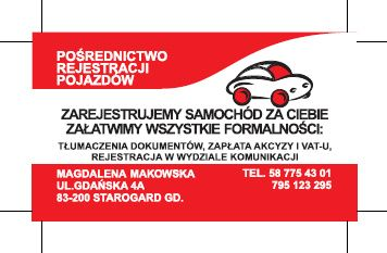 Rejestracja pojazdów, biuro tłumaczeń, ubezpieczenia