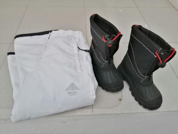 Calças e botas neve p/Criança