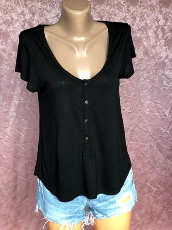 В школу девочке Черная футболка Alexander Wang оригинал блузка