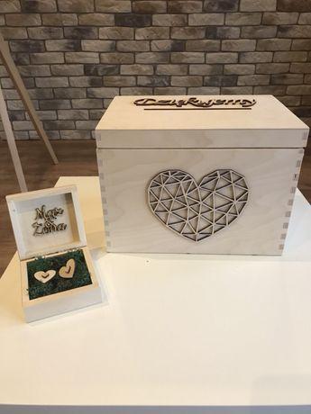 Skrzynka pudło na koperty i na obrączki ślub