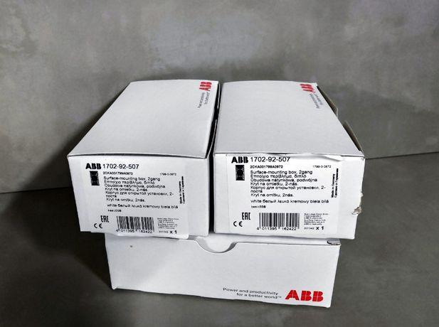 Продам коробки накладного монтажу на 2 поста, 2шт, ABB 1702-92-507