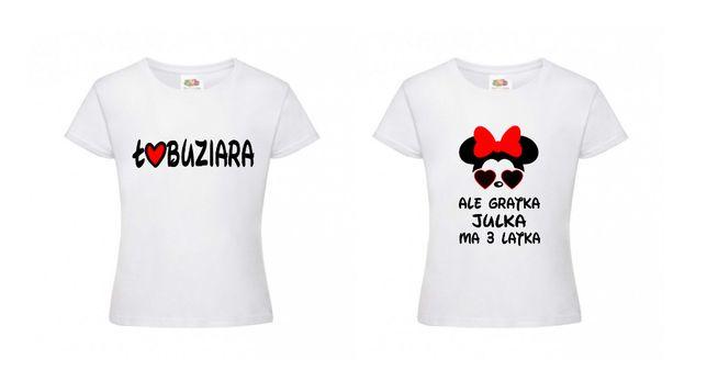 T-shirt koszulka dziecięca dziewczęca dużo wzorów urodziny