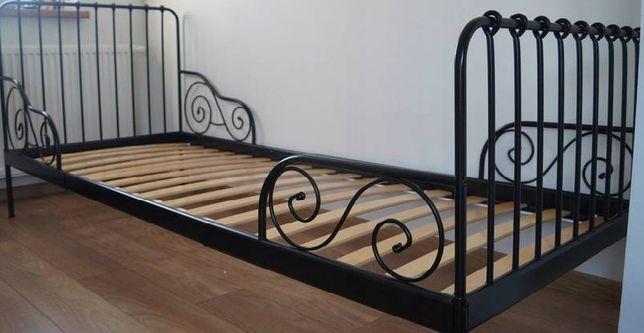 Metalowe łóżko rozsuwane dla dziecka