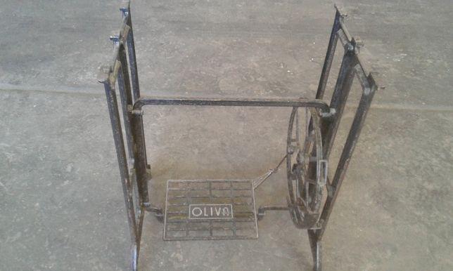mesa pé suporte ferro maquina costura oliva