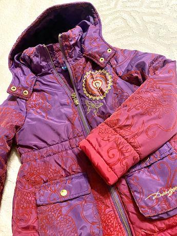 Куртка детская демисезонная для девочки фирменная Desigual на 7-8 лет