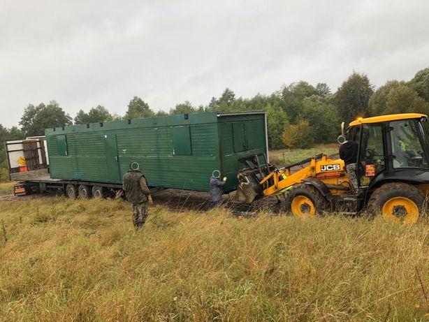 Transport domek holenderski, static caravan Anglia Anglii Angli GB UK