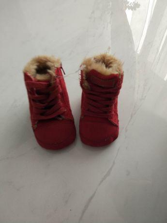 Теплые ботиночки для самых маленьких. 10 см