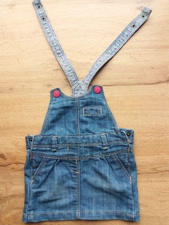 Spodniczka ogrodniczka jeans 68