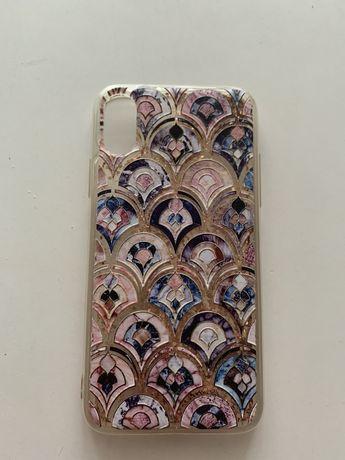 Obudowa etui case iPhone X/XS silikon brokat