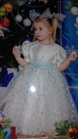 Детское праздничное платье звёздочки